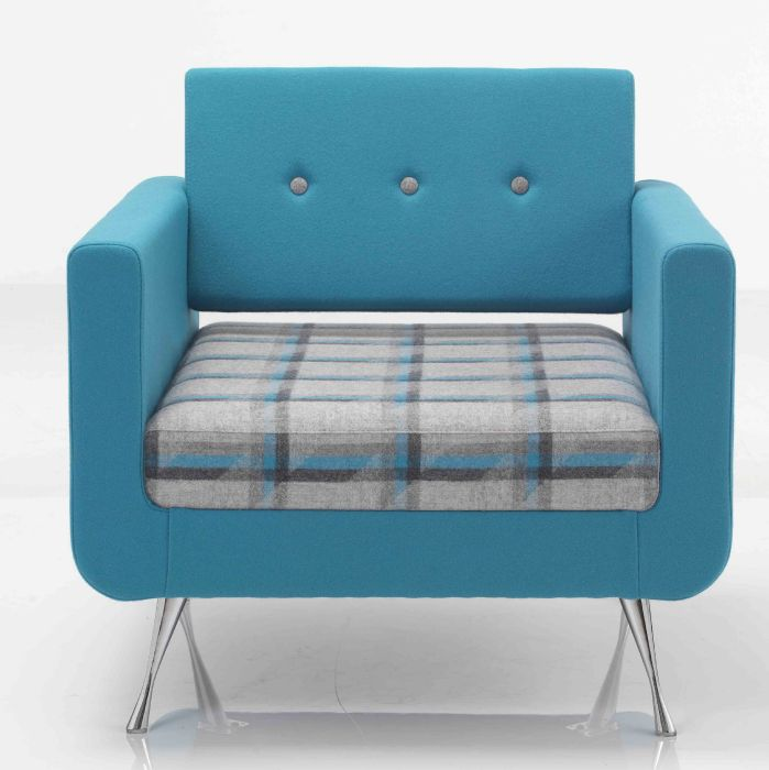 Hover To Zoom; Liberty Single Seater Sofa Front Face Shown With Button Back  Detail