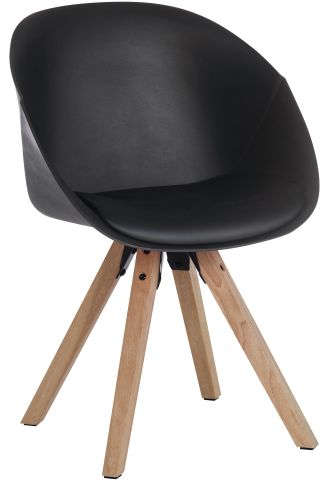 Madio Black Plastic DEsigner Tub Chairs
