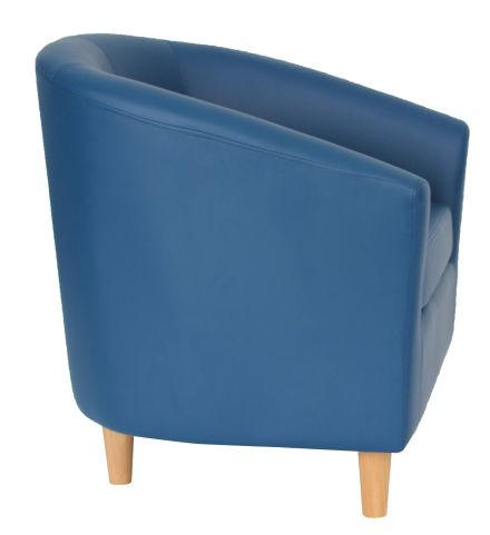 Zoron Tub Chairs Side View Wooden Feet