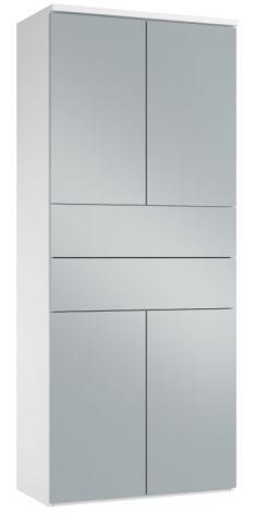 Blue Metallic Gloss Front Modern Storage
