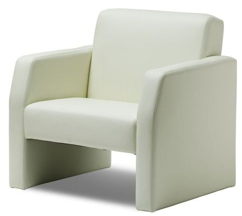 Mellba Armchair In Ivory Leather