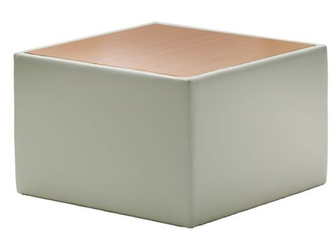 Melba Ivory Leather Coffee Table