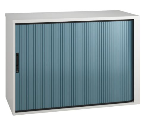Scope Tambourcabinet With A Blue Shutter