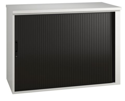 Shift Low Tambour Cabinet With A Black Shutter
