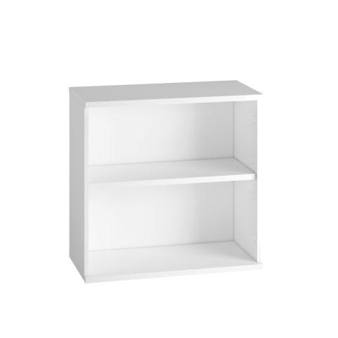 Cecile Low Bookcase - White