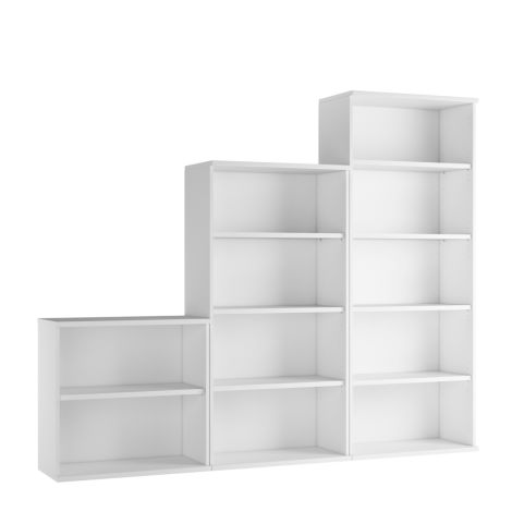 Cecile Bookcases - White