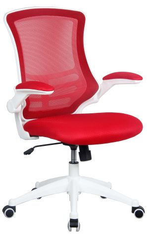 Medway Red Mesh Chair With A White Frame