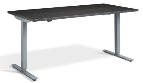 Rapid Height Adjustable Desk - Carbon Marine And Silver