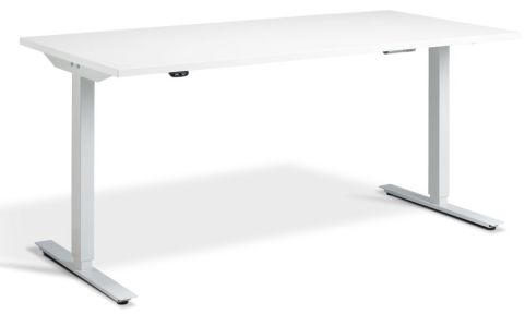 Rapid Height Adjustable Desk - White And White