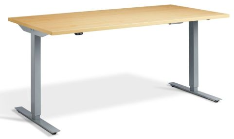 Rapid Height Adjustable Desk -Oak And Silver