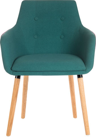 Sark Designer Chair In Teal Fabric