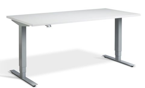 Rapid Plus Height Adjustable Desk - Grey And Silver