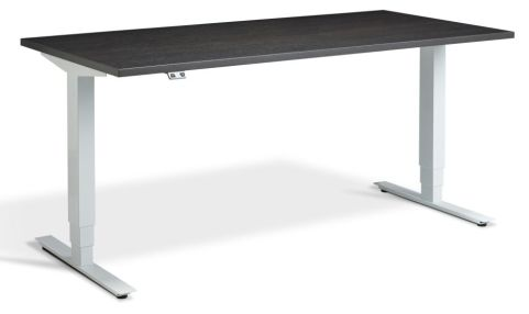Rapid Plus Height Adjustable Desk - Carbon Marine And White