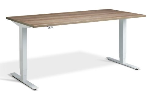 Rapid Plus Height Adjustable Desk - Nebraska Oak And White