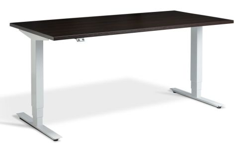 Rapid Plus Height Adjustable Desk - Wenge And White
