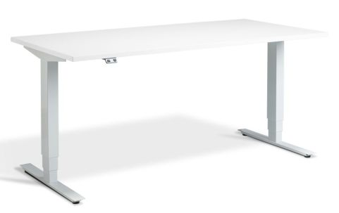 Rapid Plus Height Adjustable Desk - White And White