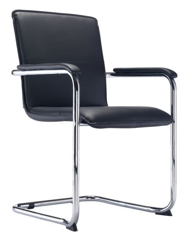 Turino Black Leather Conference Chair