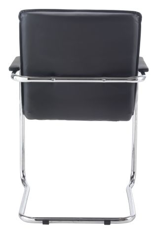 Turino Black Leather Conference Chair View
