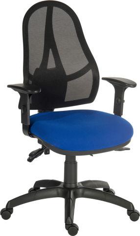 Ergo Star Mesh Task Chai Front Angle Blue Seat