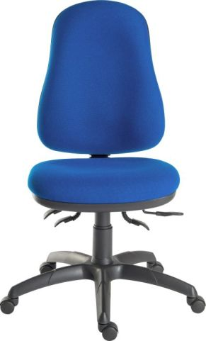 Ergostar 24 Hour Chair Blue Fabric Front View