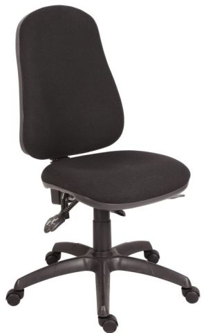 Ergo Star 24 Hout Chair Black Fabric Angle View