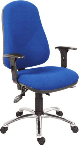 ERgo Star 24 Hour Chair In Blue Wioth A Polished Base Angle View