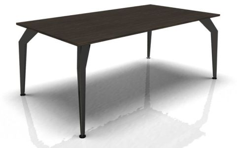 Acti Executive Desk Ebony Top Glossy Black Legs