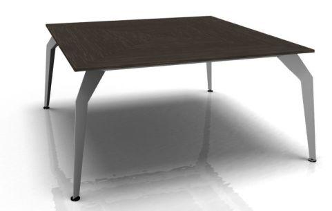 Octavia Executive Square Desk - Ebony Aluminium Frame