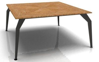 Octavia Executive Square Desk - Olive Top Black Frame