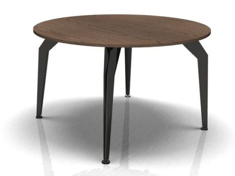 Octavian Circular Meeting Table Walnut