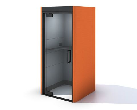 Oasis Linear Phone Booth Orange Fabric