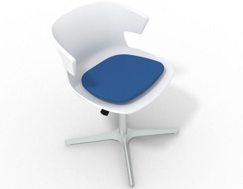 4 star metal base designer chair with small seat pad latium