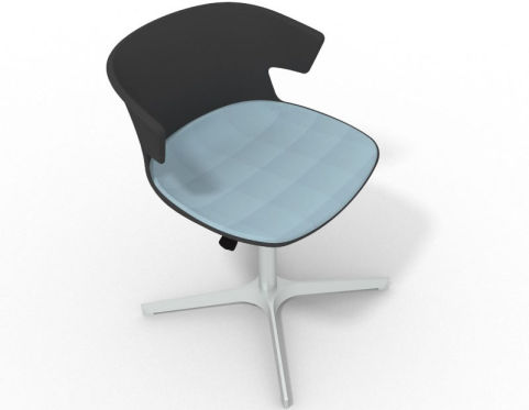 4 star metal base designer chair with large seat pad latium