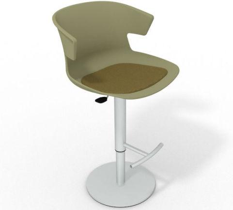Latium Height Adjustable Swivel Bar Stool - Seat Pad Green Olive Green