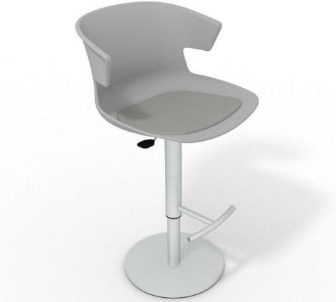 Latium Height Adjustable Swivel Bar Stool - Seat Pad Grey Grey