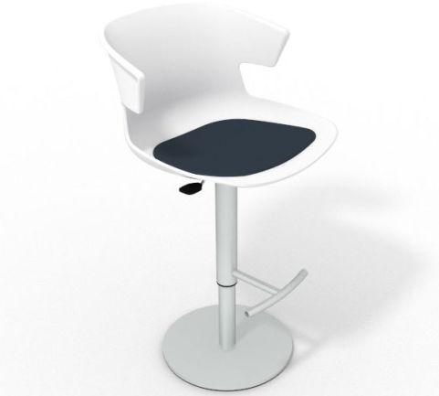 Latium Height Adjustable Swivel Bar Stool - Seat Pad White Night Blue