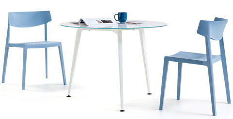Small Round Meeting Table Elica Office Reality - Small round meeting table