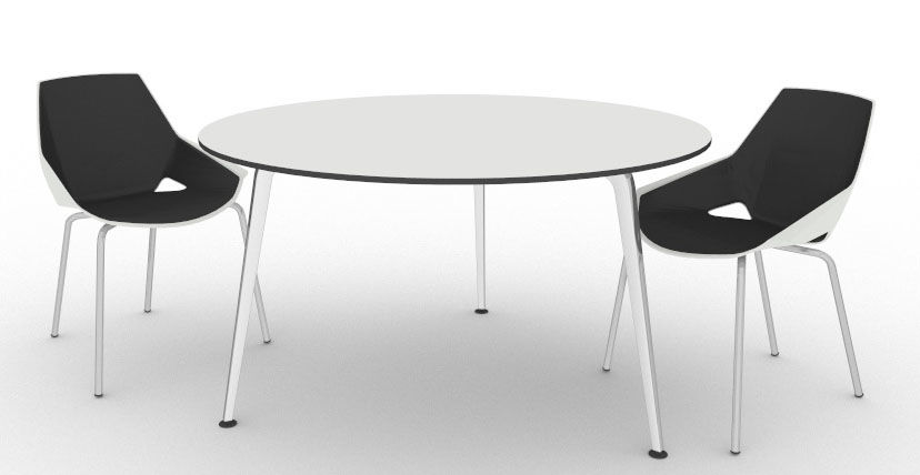 Large Round Meeting Table Elica Office Reality - Large round meeting table