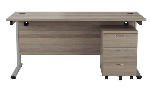 Flite Rectangular Desk And Three Darwer Pedestal