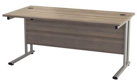 Flite Rectangular Desk In Grey Oak