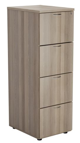 Flite Four Drawer Filing Cabinet In Grey Oak