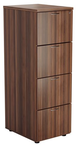 Flite Four Drawer Vwooden Filing Cabinet In Walnut