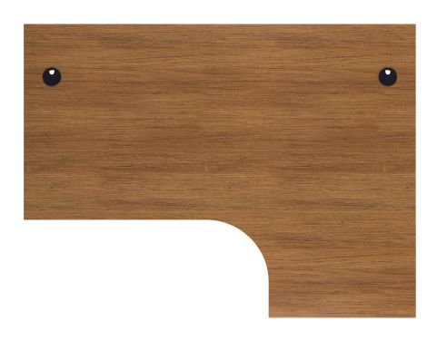 Flite Corner Desk In Light Walnut From Above