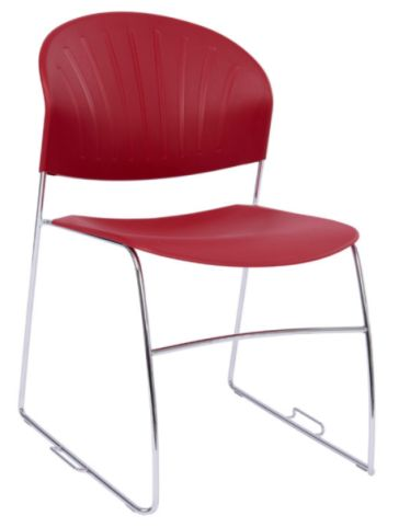 Pinta Stackable Chair In Burgundy
