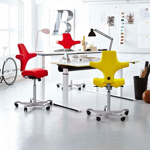 8106 Hag Capisco Stool Red & Yellow