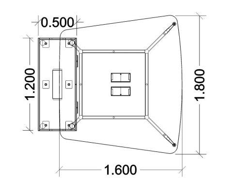 Elica Thoracic Twin Desk & Credenza Dimensions