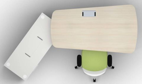 Single Left Hand Desk & Credenza Chair Top