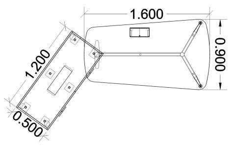 Single Left Hand Desk & Credenza Dimensions