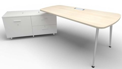 Single Left Hand Desk & Credenza