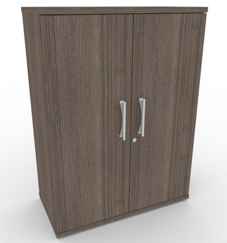 AVALONPOST Anthracite Double Door Cupboard, Large Storage Space, 17 Wood Finishes, Free Installation